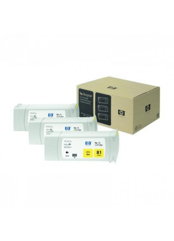 HP originál ink C5069A, HP 81, yellow, 3x680ml, 3ks, HP DesignJet 5000, PS, UV, 5500, PS