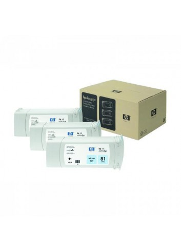 HP originál ink C5070A, HP 81, light cyan, 3x680ml, 3ks, HP DesignJet 5000, PS, UV, 5500, PS