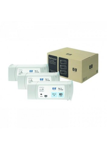 HP originál ink C5076A, HP 83, light cyan, 3x680ml, 3ks, HP DesignJet 5000, PS, 5500, PS