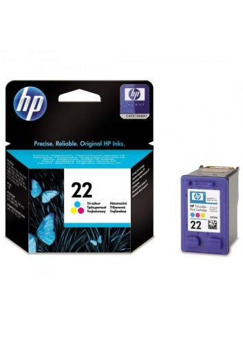 HP originál ink C9352AE, HP 22, color, blister, 138str., 5ml, HP PSC-1410, DeskJet F380, D2300, OJ-4300, 5600