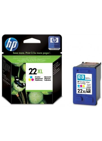 HP originál ink C9352CE, HP 22XL, color, blister, 415str., 11ml, HP PSC-1410, DeskJet F380, D2300, OJ-4300, 5600