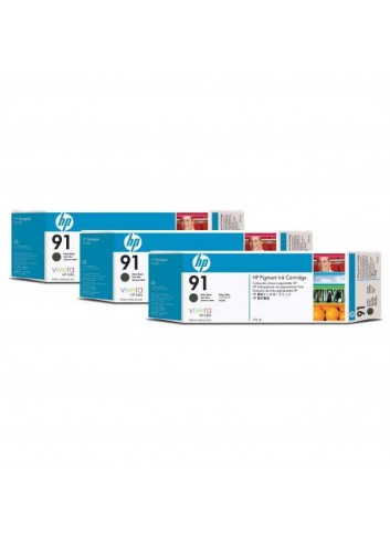 HP originál ink C9480A, HP 91, matte black, 775ml, 3ks, HP Designjet Z6100, Designjet Z6100ps