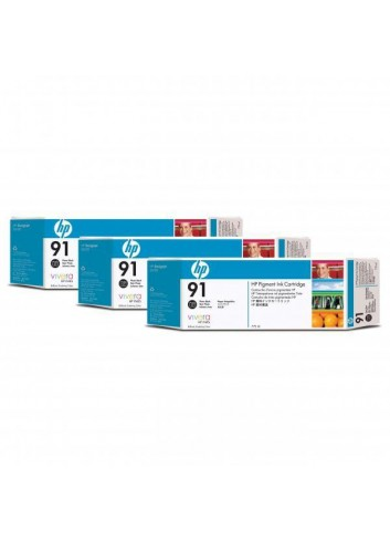 HP originál ink C9481A, HP 91, photo black, 775ml, 3ks, HP Designjet Z6100, Designjet Z6100ps