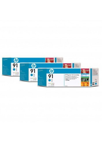HP originál ink C9483A, HP 91, cyan, 775ml, 3ks, HP Designjet Z6100, Designjet Z6100ps