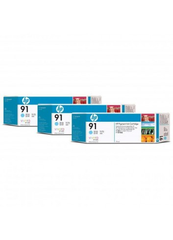 HP originál ink C9486A, HP 91, light cyan, 775ml, 3ks, HP Designjet Z6100, Designjet Z6100ps