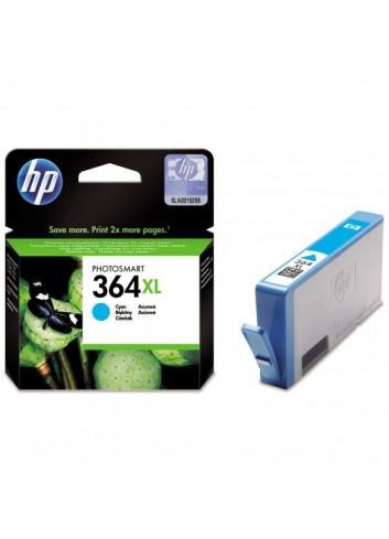 HP originál ink CB323EE, HP 364XL, cyan, 750str., HP Photosmart B8550, C5380, D5460