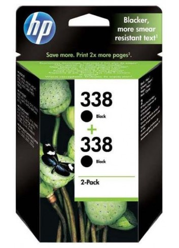 HP originál ink CB331EE, HP 338, black, 900 (2x450)str., 2x11ml, HP 2-Pack, C8765EE, PSC-1610, OJ-6210, DeskJet 6840