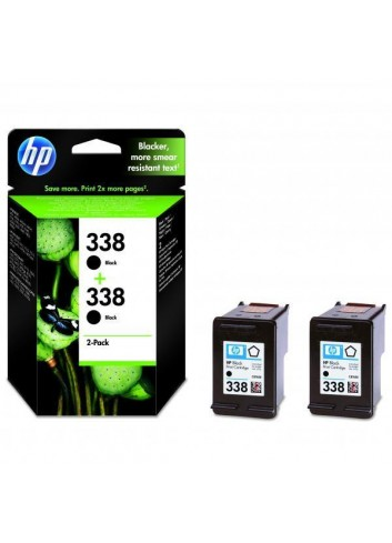 HP originál ink CB331EE, HP 338, black, blister, 900 (2x450)str., 2x11ml, HP 2-Pack, C8765EE, PSC-1610, OJ-6210, DeskJet 6840