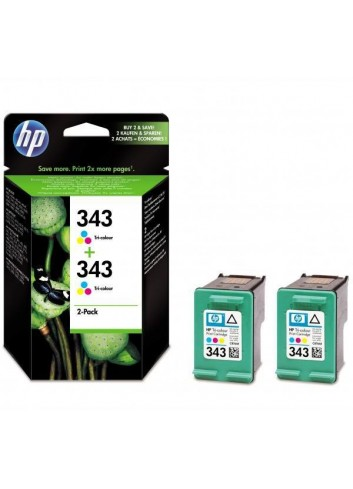 HP originál ink CB332EE, HP 343, color, 520 (2x260)str., 2x7ml, HP 2-Pack, C8766EE, PSC-1610, OJ-6210, DeskJet 6840