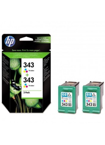 HP originál ink CB332EE, HP 343, color, blister, 520 (2x260)str., 2x7ml, HP 2-Pack, C8766EE, PSC-1610, OJ-6210, DeskJet 6840