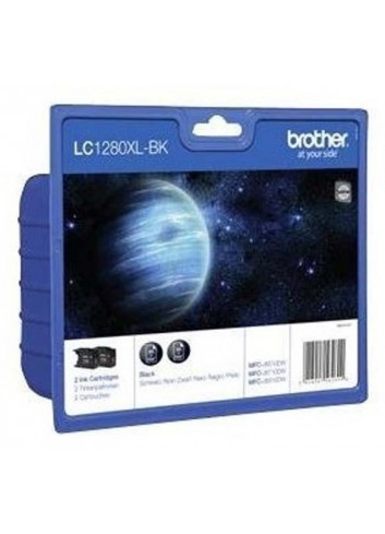 Brother originál ink LC-1280XLBKBP2, black, 2x2400str., high capacity, Brother MFC-J6910DW