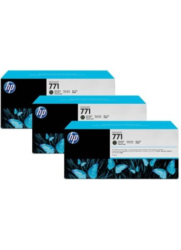 HP originál ink CR250A, matte black, 3x775ml, HP 771, HP 3-Pack, Designjet Z6200