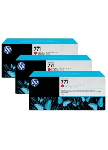 HP originál ink CR251A, chromatic red, 3x775ml, HP 771, HP 3-Pack, Designjet Z6200
