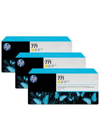 HP originál ink CR253A, yellow, 3x775ml, HP 771, HP 3-Pack, Designjet Z6200