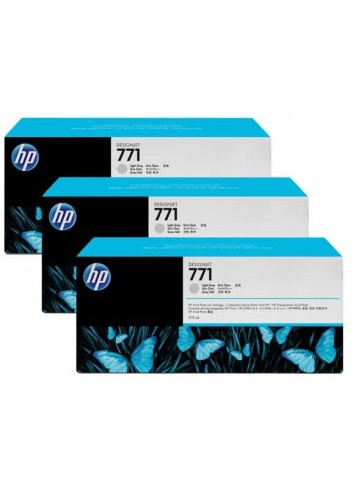 HP originál ink CR257A, light grey, 3x775ml, HP 771, HP 3-Pack, Designjet Z6200