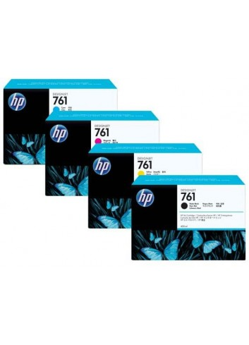 HP originál ink CR270A, yellow, 3x400ml, HP 761, HP 3-Pack, DesignJet T7100