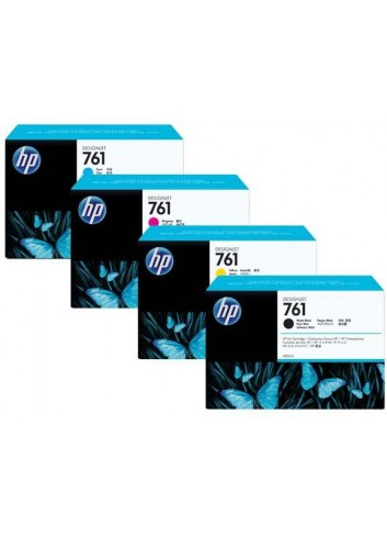 HP originál ink CR272A, cyan, 3x400ml, HP 761, HP 3-Pack, DesignJet T7100
