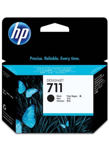 HP originál ink CZ133A, HP 711, black, 80ml, HP DesignJet T120, T520
