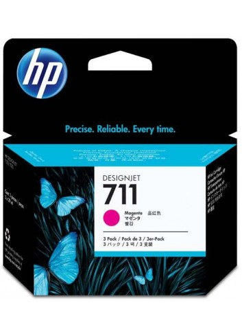HP originál ink CZ135A, HP 711, magenta, 3x29ml, 3ks, HP DesignJet T120, T520