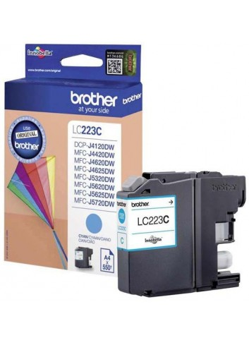 Brother originál ink LC-223C, cyan, 600str., 1ks, Brother MFC-J4420DW, MFC-J4620DW