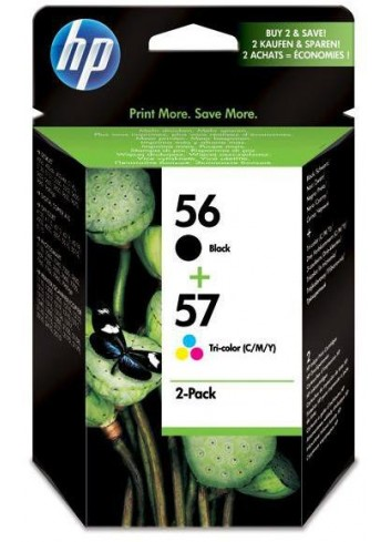 HP originál ink SA342AE, HP 56 + HP 57, black/color, 520/500str., 2ks, HP 2-Pack, C6656 + C6657