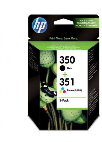 HP originál ink SD412EE, HP 350 + HP 351, black/color, 200/170str., 2ks, HP 2-Pack, CB335EE + CB337EE