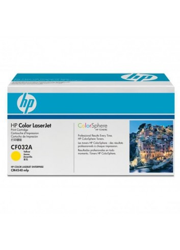 HP originál toner CF032A, yellow, 12500str., HP 646A, HP Color LaserJet CM4540, 4540f, 4540fskm