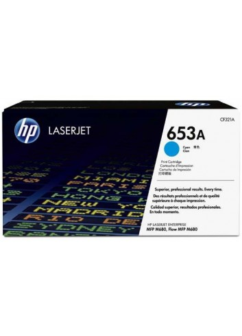 HP originál toner CF321A, cyan, 16500str., HP 653A, HP Color LaserJet Enterprise Flow M680z, M680dn, M680