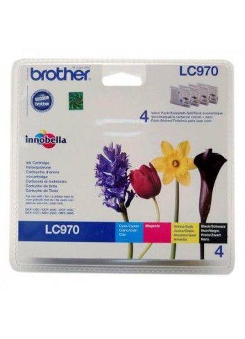 Brother originál ink LC-970VALBP, CMYK, 300str., Brother DCP-135C, 150C, MFC-235C, 260C