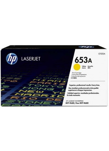 HP originál toner CF322A, yellow, 16500str., HP 653A, HP Color LaserJet Enterprise Flow M680z, M680dn, M680
