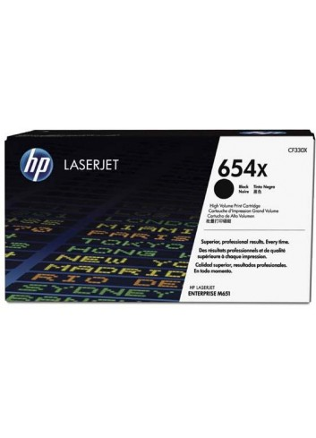 HP originál toner CF330X, black, 20500str., HP 654X, HP Color LaserJet Enterprise Flow M680z, M651dn, M651