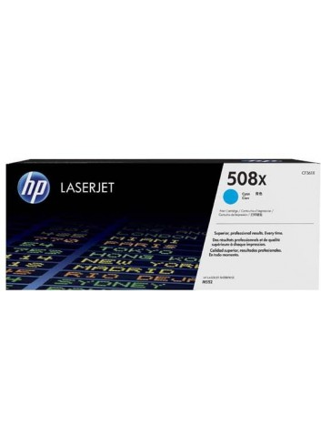 HP originál toner CF361X, cyan, 9500str., HP 508X, high capacity, HP Color LaserJet Enterprise M552dn,M553dn,553n,553x