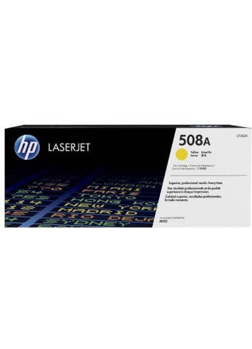 HP originál toner CF362A, yellow, 5000str., HP 508A, HP Color LaserJet Enterprise M552, M553, 860g