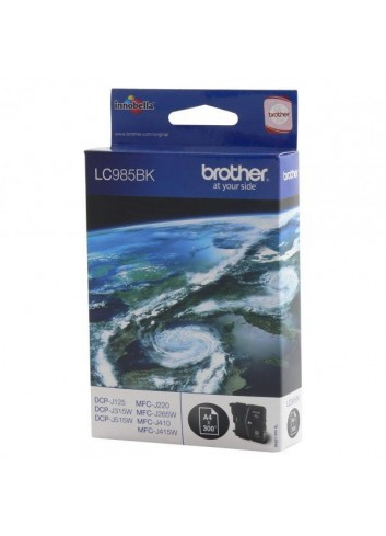 Brother originál ink LC-985BK, black, 300str., Brother DCP-J315W