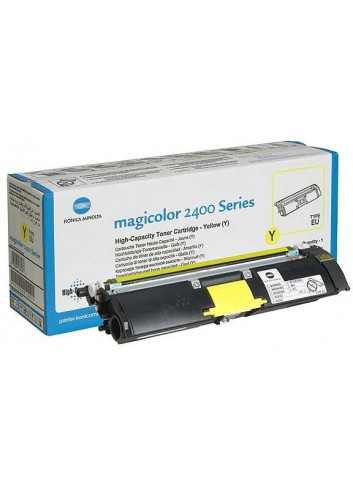 Konica Minolta originál toner A00W132, yellow, 4500str., 1710-5890-05, s hologramom, Konica Minolta Magic Color 2400, 2430, 2450