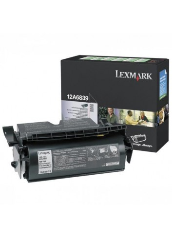 Lexmark originál toner 12A6839, black, 20000str., return, Lexmark T520, N, D, DN, T522, X520 MFP, label application