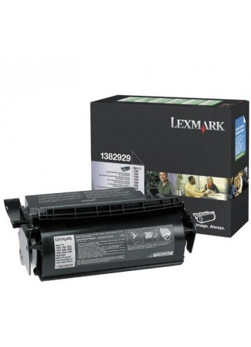 Lexmark originál toner 1382929, black, 17600str., return, Lexmark Optra S 1250, 1620, 1855, 2455, label application