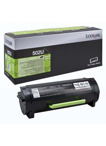 Lexmark originál toner 50F2U00, black, 20000str., 502U, return, ultra high capacity, Lexmark MS510DN, 610DE, 610DN, 610DTE