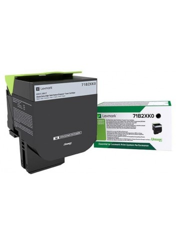 Lexmark originál toner 71B2XK0, black, 8000str., return, Lexmark CS517, CX517