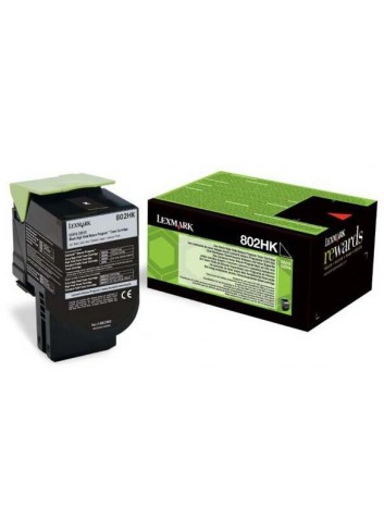Lexmark originál toner 80C2HK0, black, 4000str., return, Lexmark CX410/510