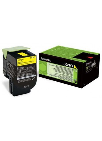 Lexmark originál toner 80C2HY0, yellow, 3000str., return, Lexmark CX410/510