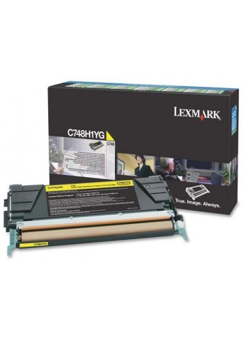 Lexmark originál toner C748H1YG, yellow, 10000str., return, high capacity, Lexmark C748DE, C748DTE, C748E