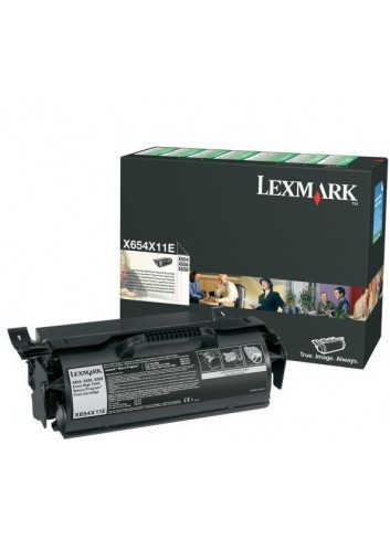 Lexmark originál toner X654X11E, black, 36000str., return, high capacity, Lexmark X654, X656, X658