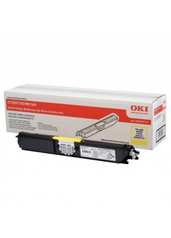 OKI originál toner 44250717, yellow, 1500str., OKI C110, 130n, MC160