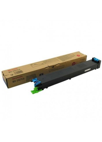Sharp originál toner MX-31GTCA, cyan, 15000str., Sharp MX 2301N, 2600N, 3100N, 4100N, 4101N, 5000N, 5001N
