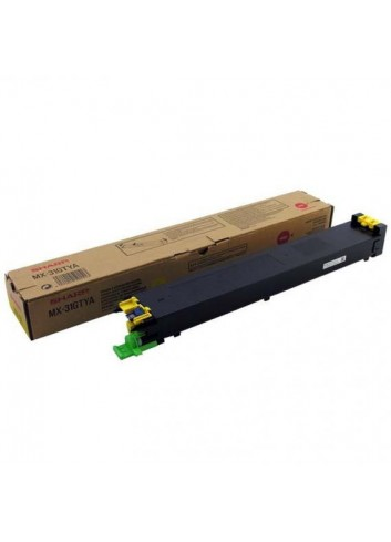 Sharp originál toner MX-31GTYA, yellow, 15000str., Sharp MX 2301N, 2600N, 3100N, 4100N, 4101N, 5000N, 5001N