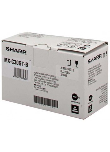 Sharp originál toner MX-C30GTB, black, 6000str., Sharp MX-C250FE/C300WE