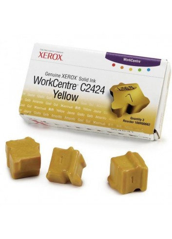 Xerox originál ink 108R00662, yellow, 3400str., Xerox WorkCentre C2424 Malibu, 3ks