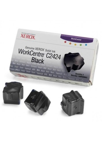 Xerox originál ink 108R00663, black, 3400str., Xerox WorkCentre C2424 Malibu, 3ks