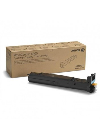 Xerox originál toner 106R01317, cyan, 16500str., high capacity, Xerox WorkCentre 6400